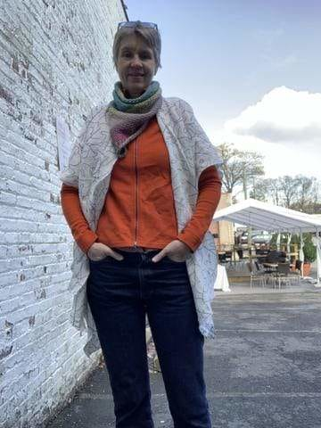 Make A Easy Open Cardigan Using Your Rolled Hem Foot