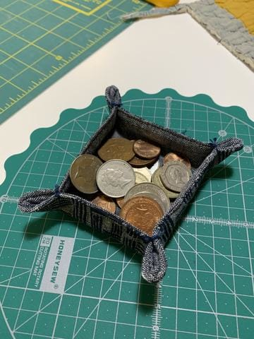 Easy to sew catch all tray