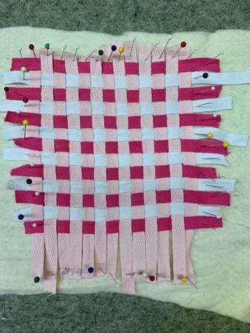 Quick & Easy Sewing Projects: Woven Valentine's Day Coasters