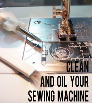 Clean and oil your sewing machine