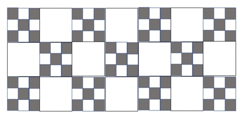 My favorite beginner's quilt- the Classic 9 Patch