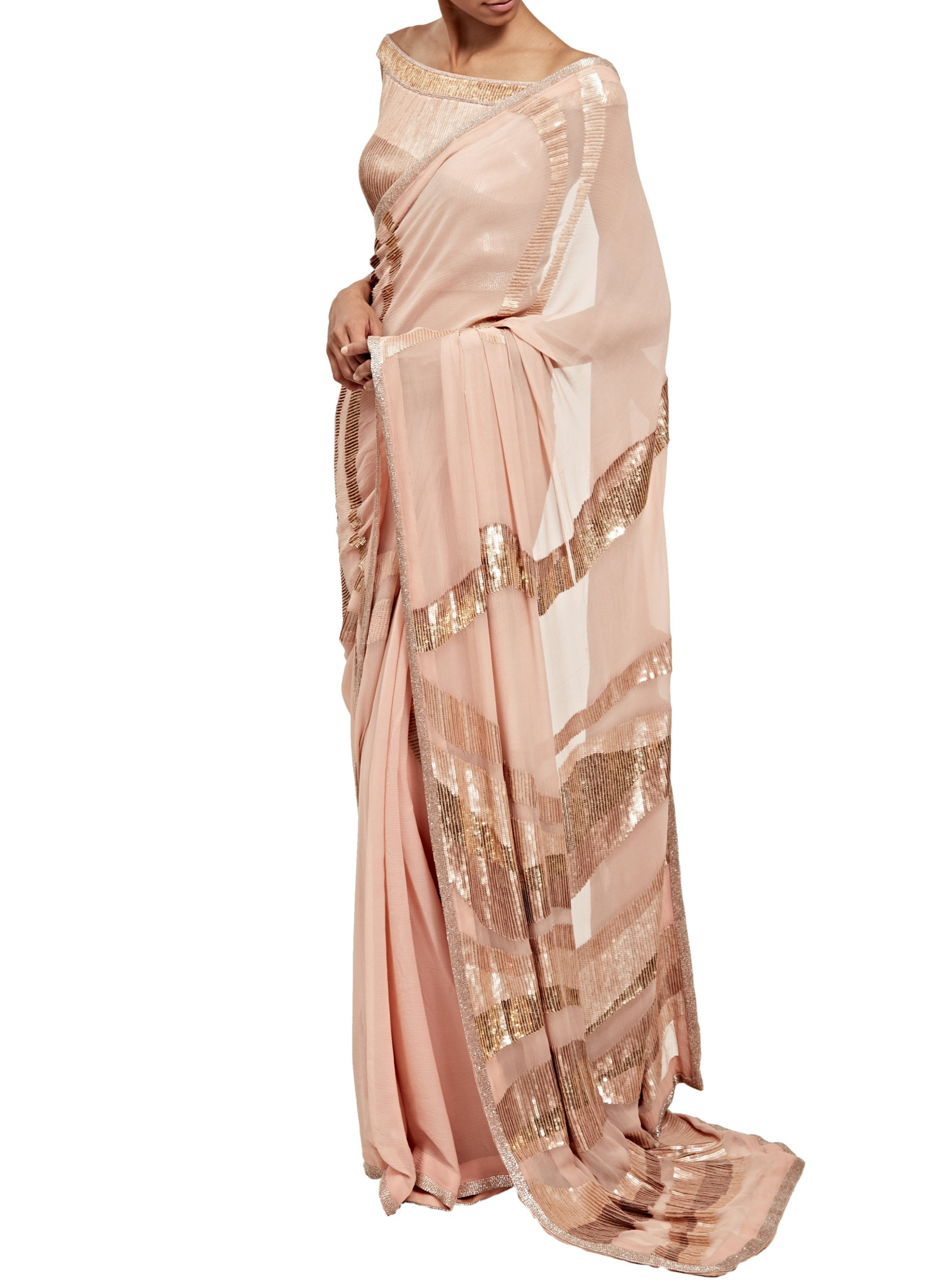 Blush Pink Saree Set - nakulsen