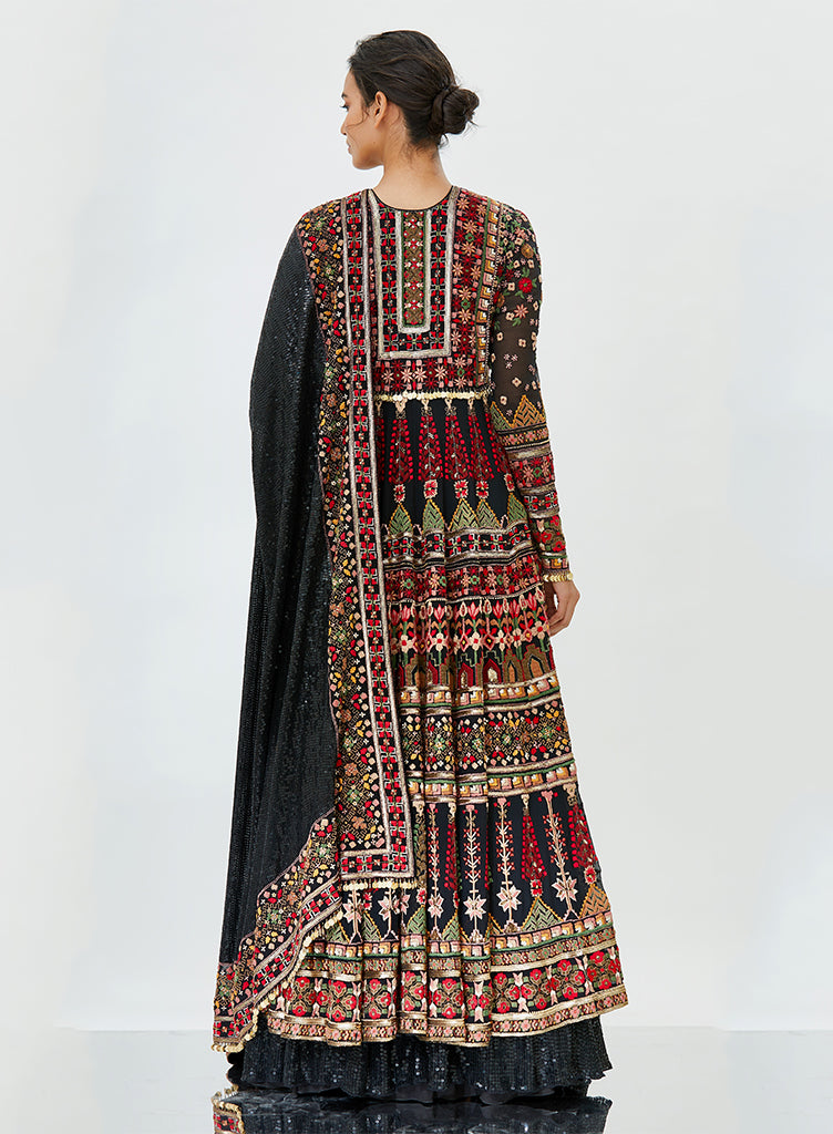 Black Tribal Anarkali - nakulsen