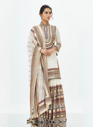 Ivory Tribal Sharara - nakulsen