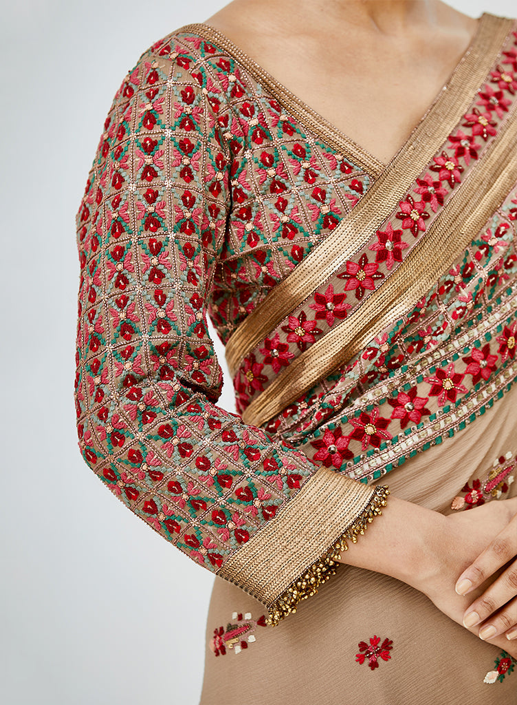 Mouse tribal Saree - nakulsen