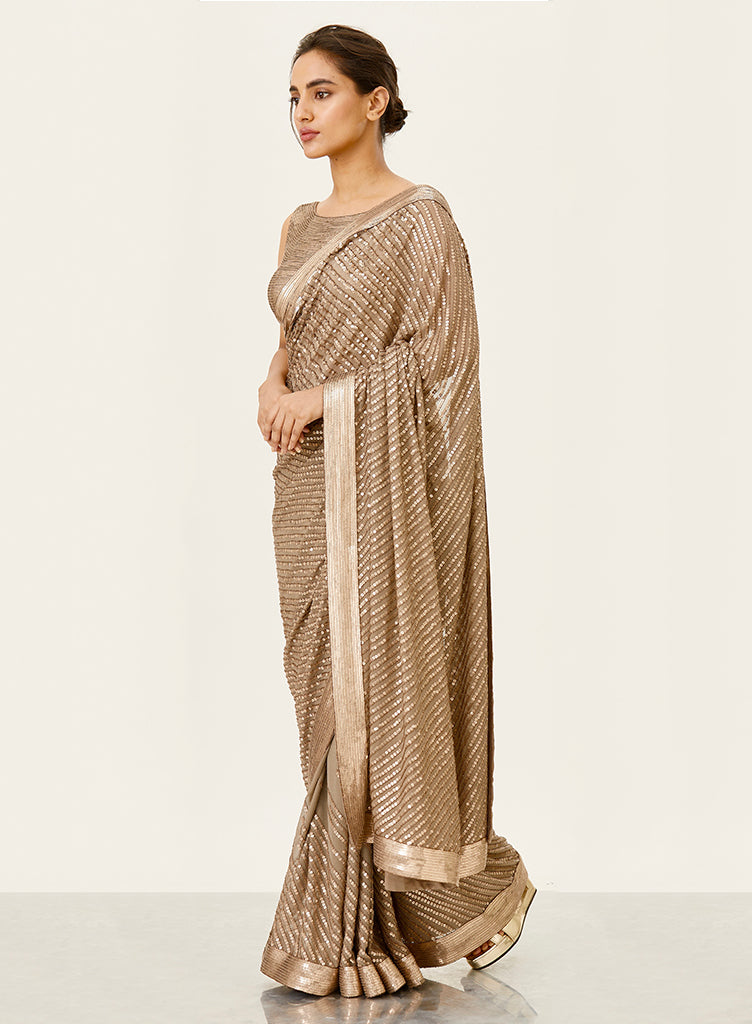 Mouse Sequins Saree - nakulsen