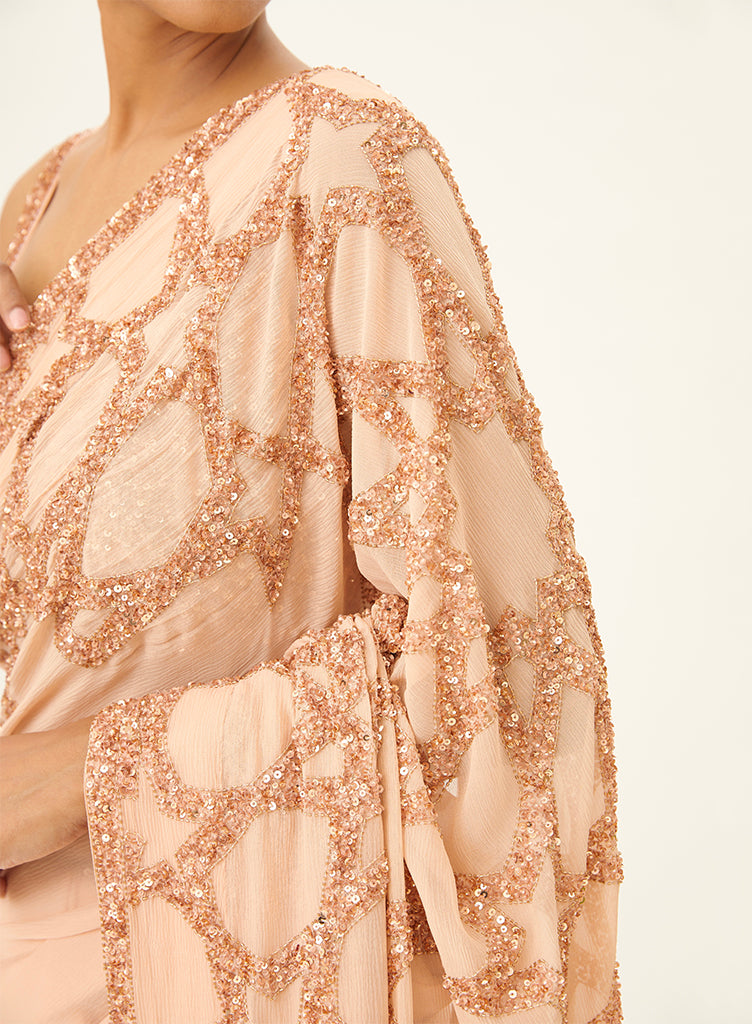 Blush Pink Saree - nakulsen