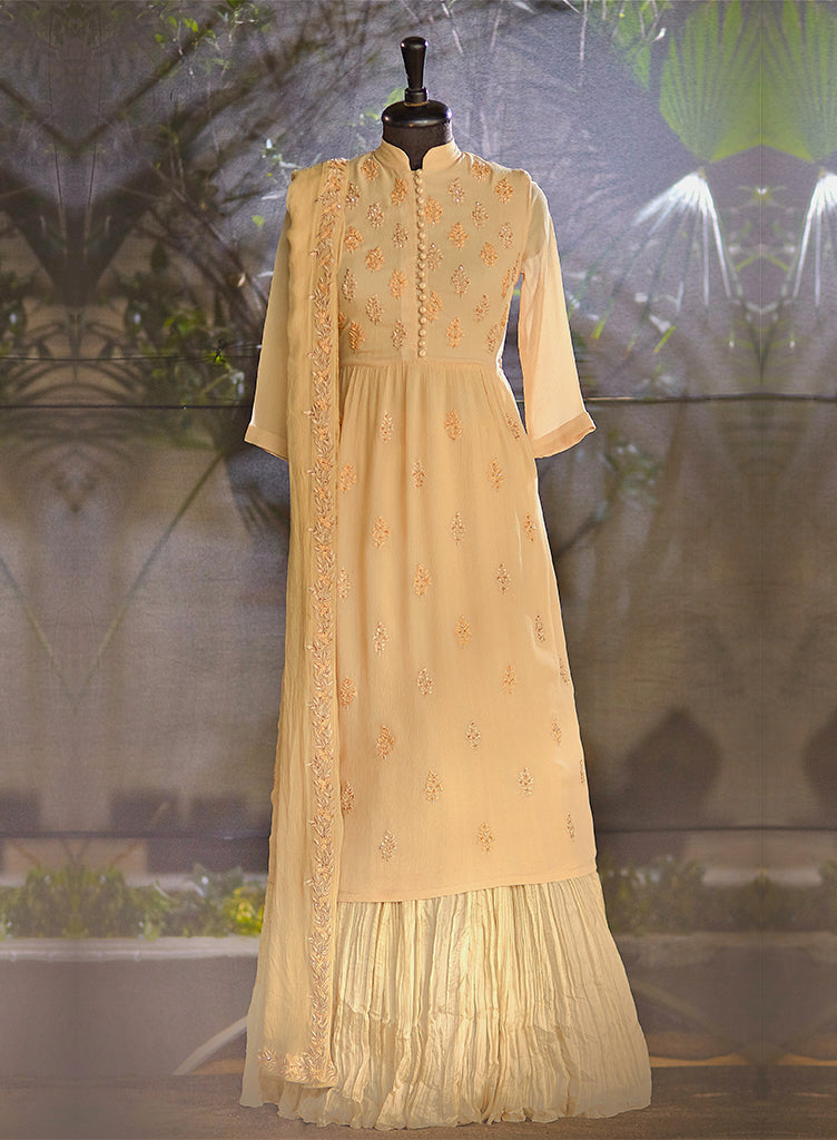 Light Beige Kurta Set - nakulsen