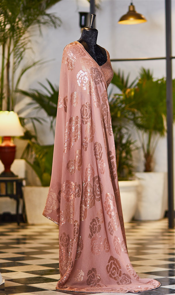 Dusty Rose Saree - nakulsen