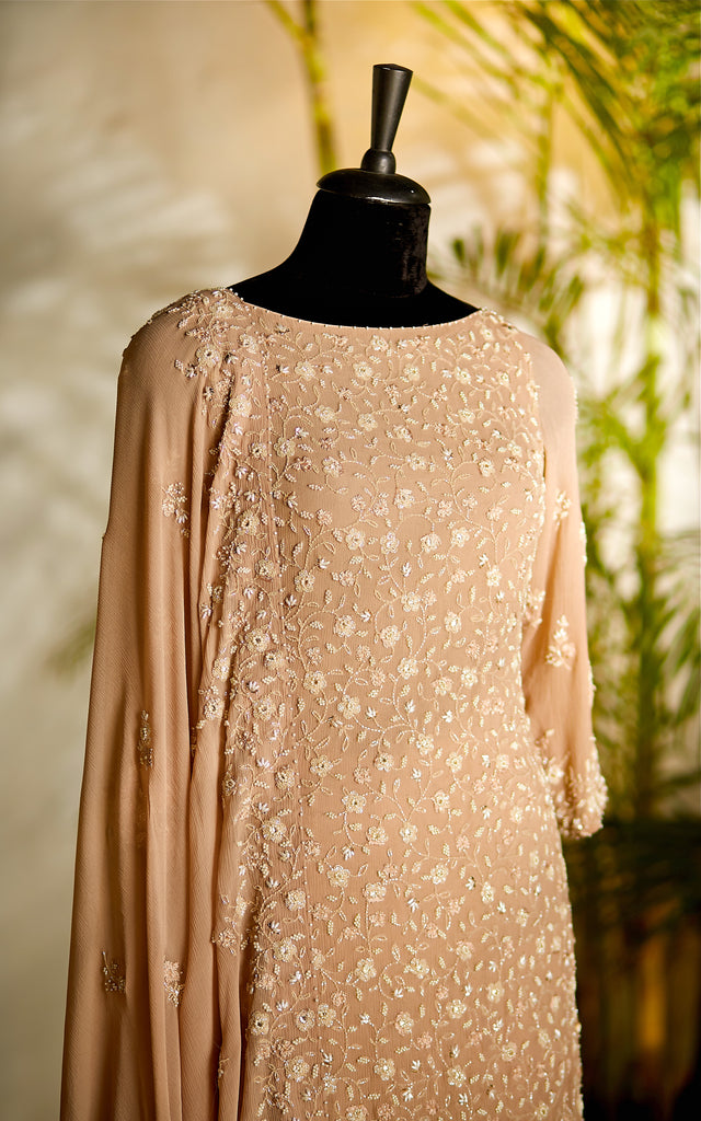 Blush pink Sharara Set - nakulsen
