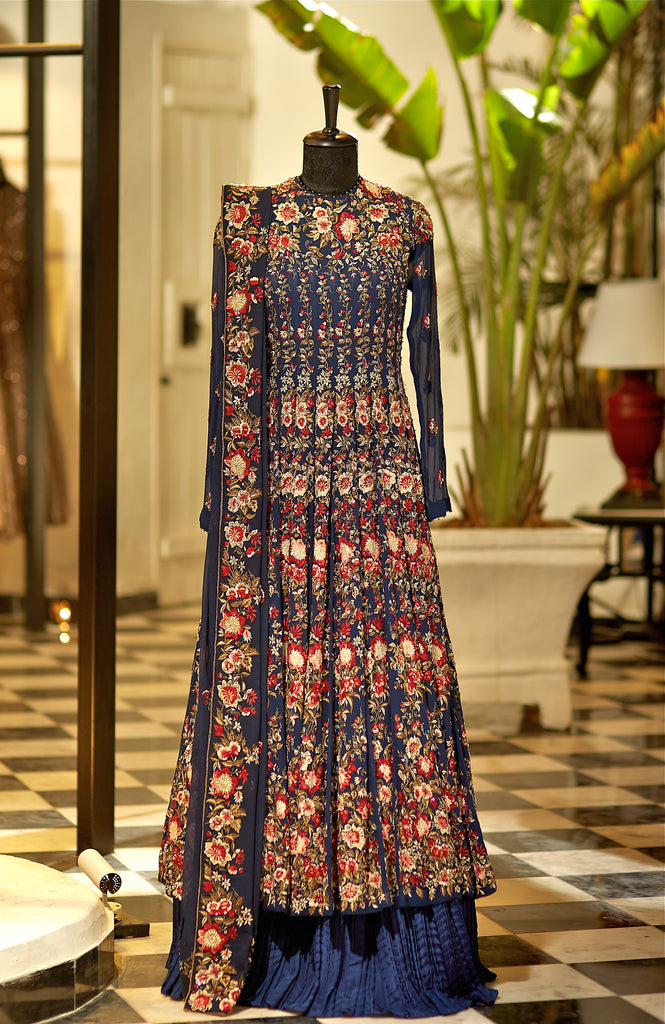 Midnight Blue Anarkali Kurta - nakulsen