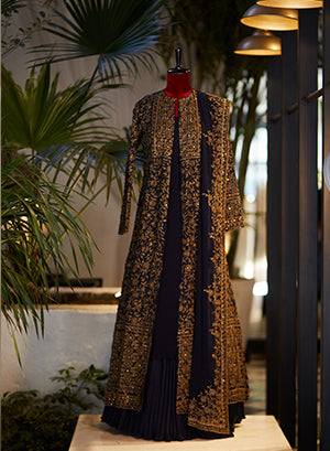 Jacket set With Intricate Resham Embroidery