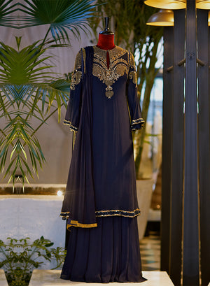 Midnight Blue Kurta Set - nakulsen