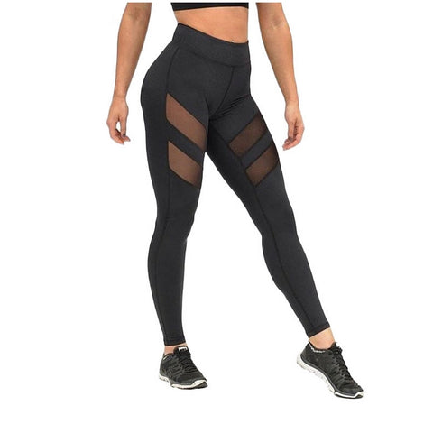 MESH PANEL FITNESS LEGGINGS