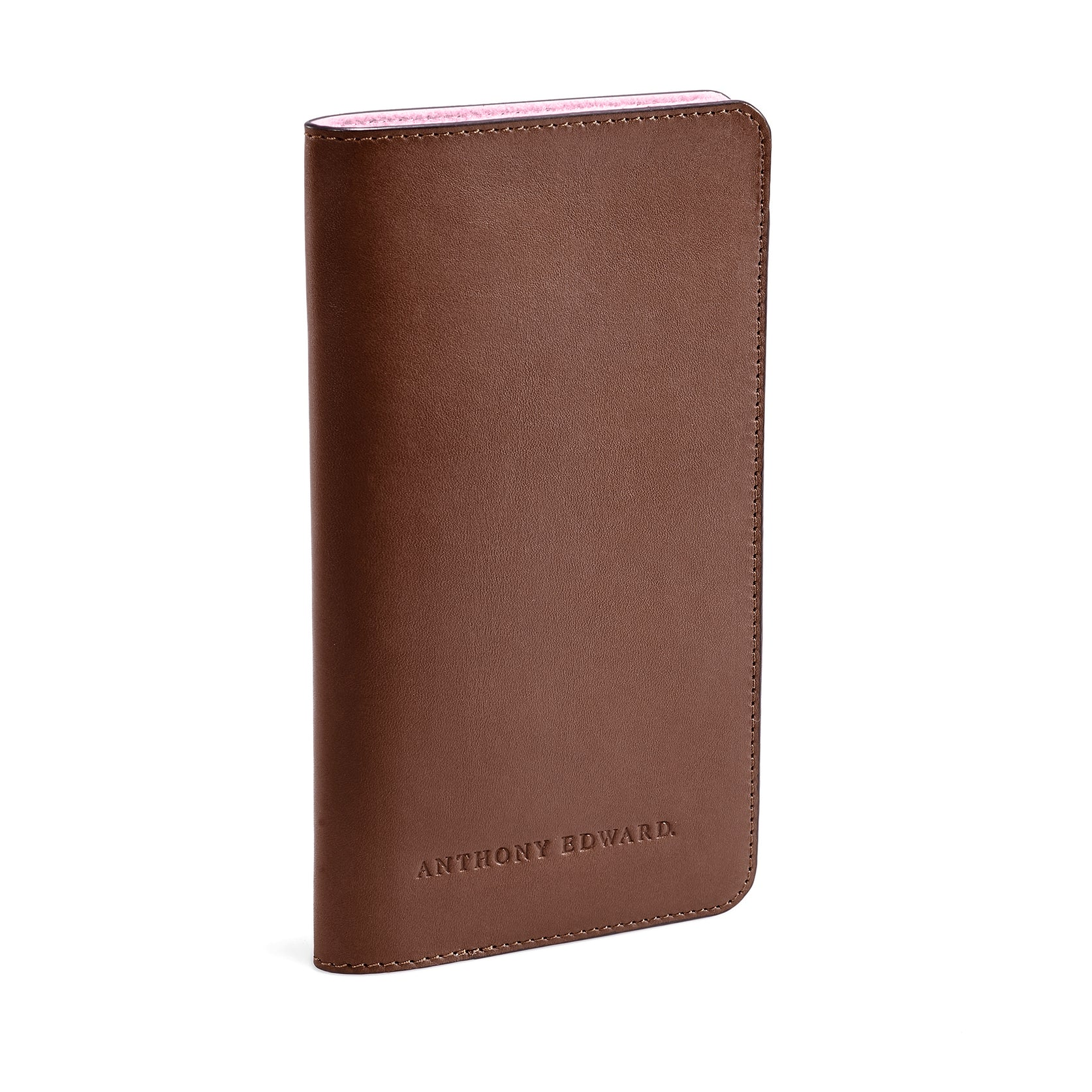 PASSPORT CASE BROWN CORAL PINK (488100626481)