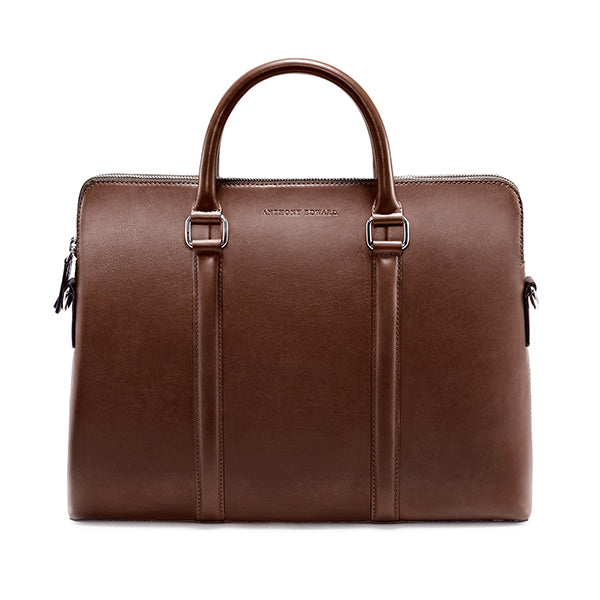 CLASSY BRIEFCASE BROWN NATURAL BEIGE (276648787994)