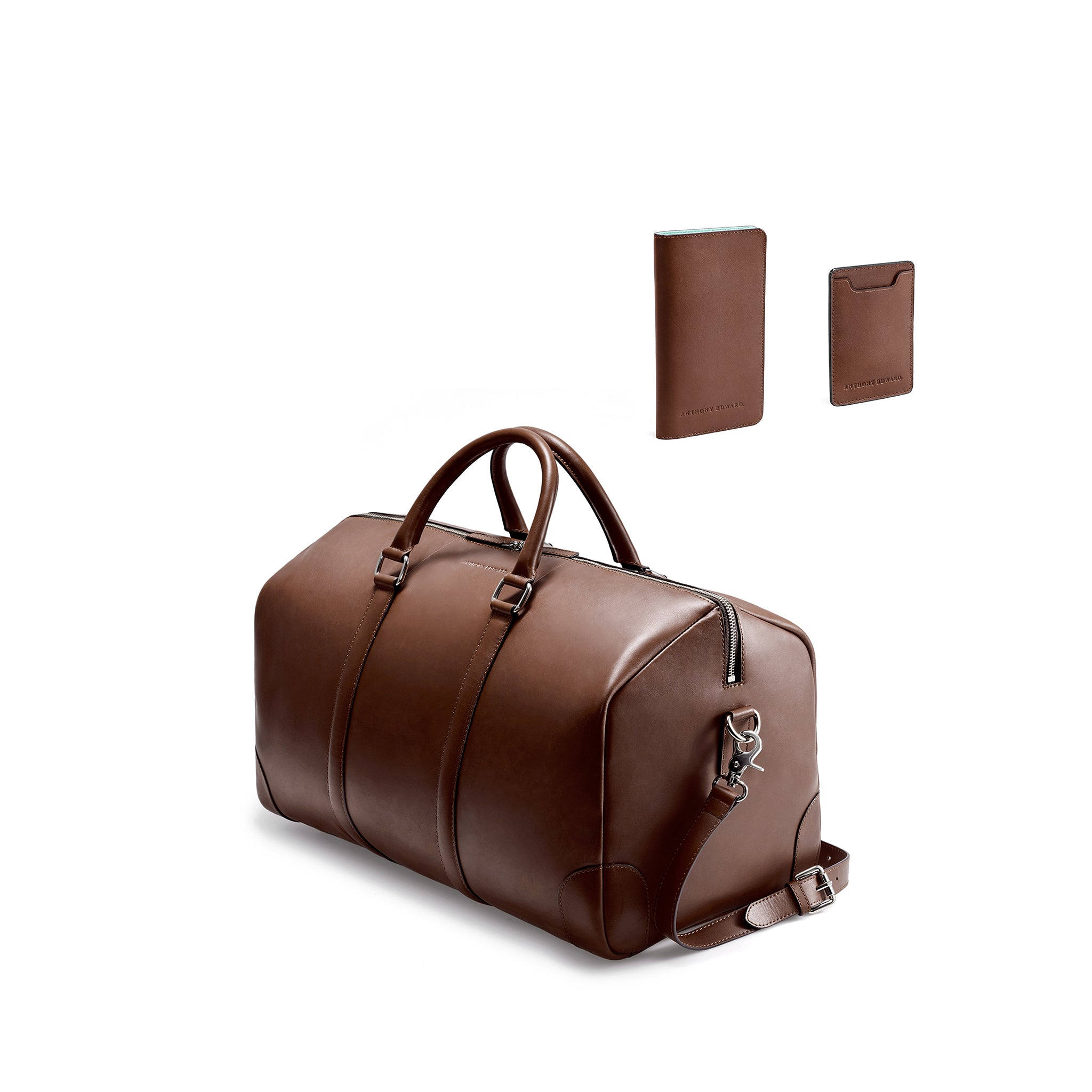 CLASSY TRAVEL SET - BROWN/CLEARLY TURQUOISE