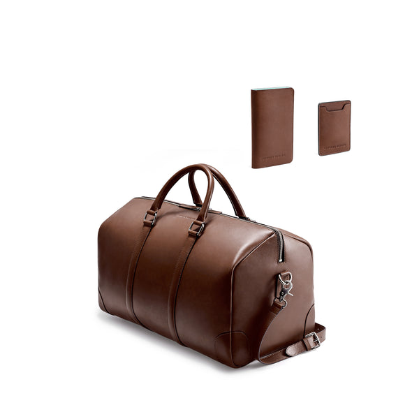 CLASSY TRAVEL SET - BROWN/NATURALE BEIGE