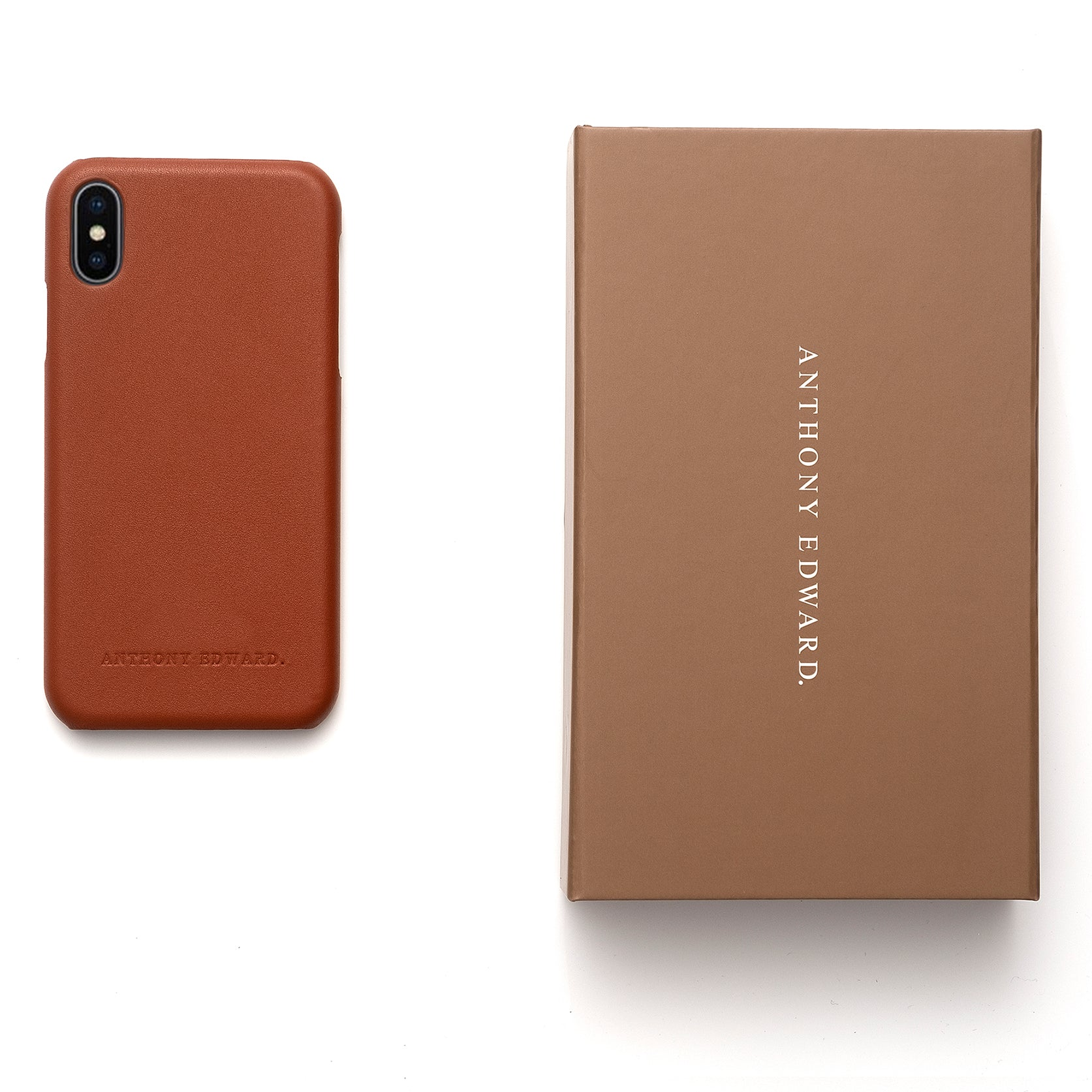 IPHONE XS MAX COGNAC CASE