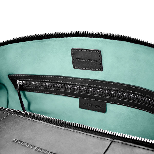 CLASSY DUFFLE  BLACK CLEARLY TURQUOISE