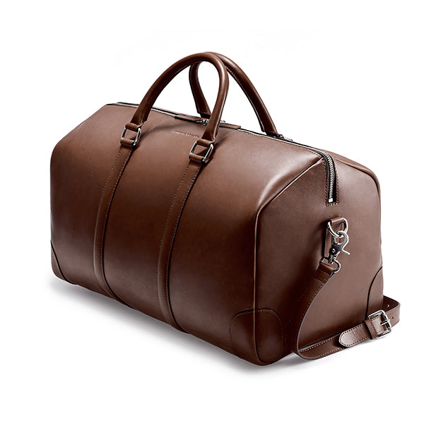 CLASSY DUFFLE  BROWN CLEARLY TURQUOISE