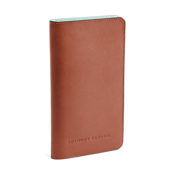 PASSPORT CASE COGNAC CLEARLY TURQUOISE (497310335025)