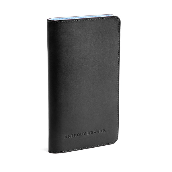 PASSPORT CASE BLACK CRYSTAL BLUE