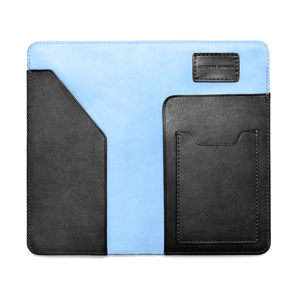 PASSPORT CASE BLACK CRYSTAL BLUE (497302798385)