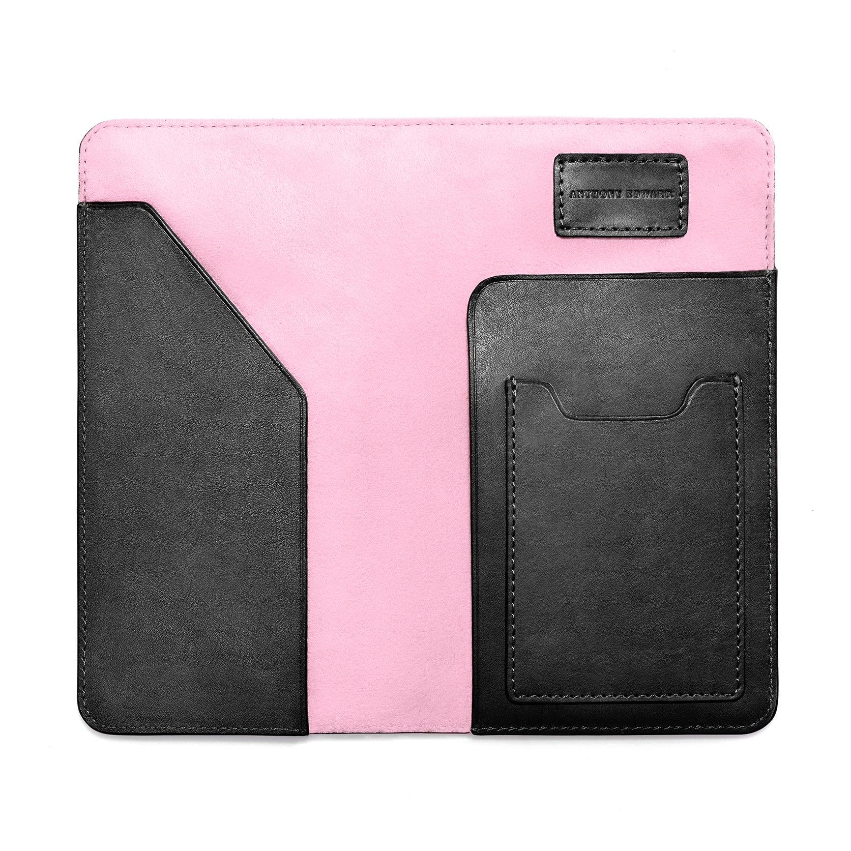 PASSPORT CASE BLACK CORAL PINK