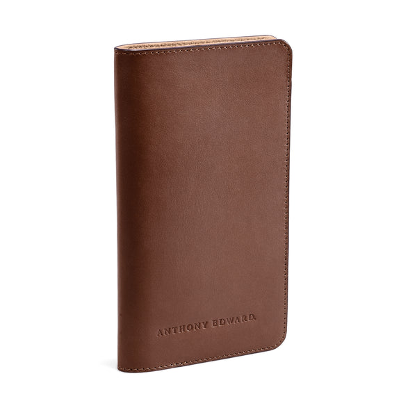 PASSPORT CASE BROWN NATURAL BEIGE