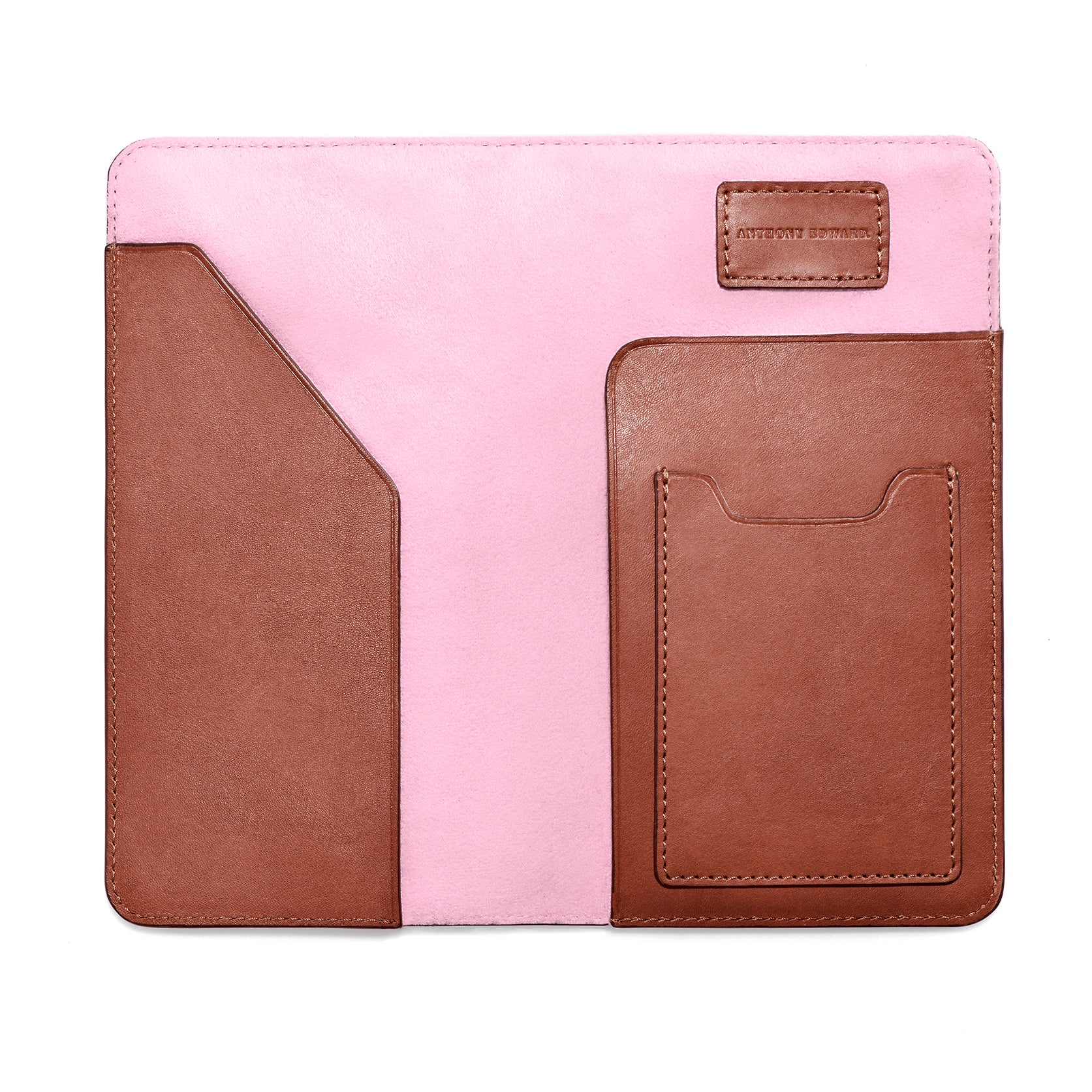 PASSPORT CASE COGNAC CORAL PINK (488099250225)