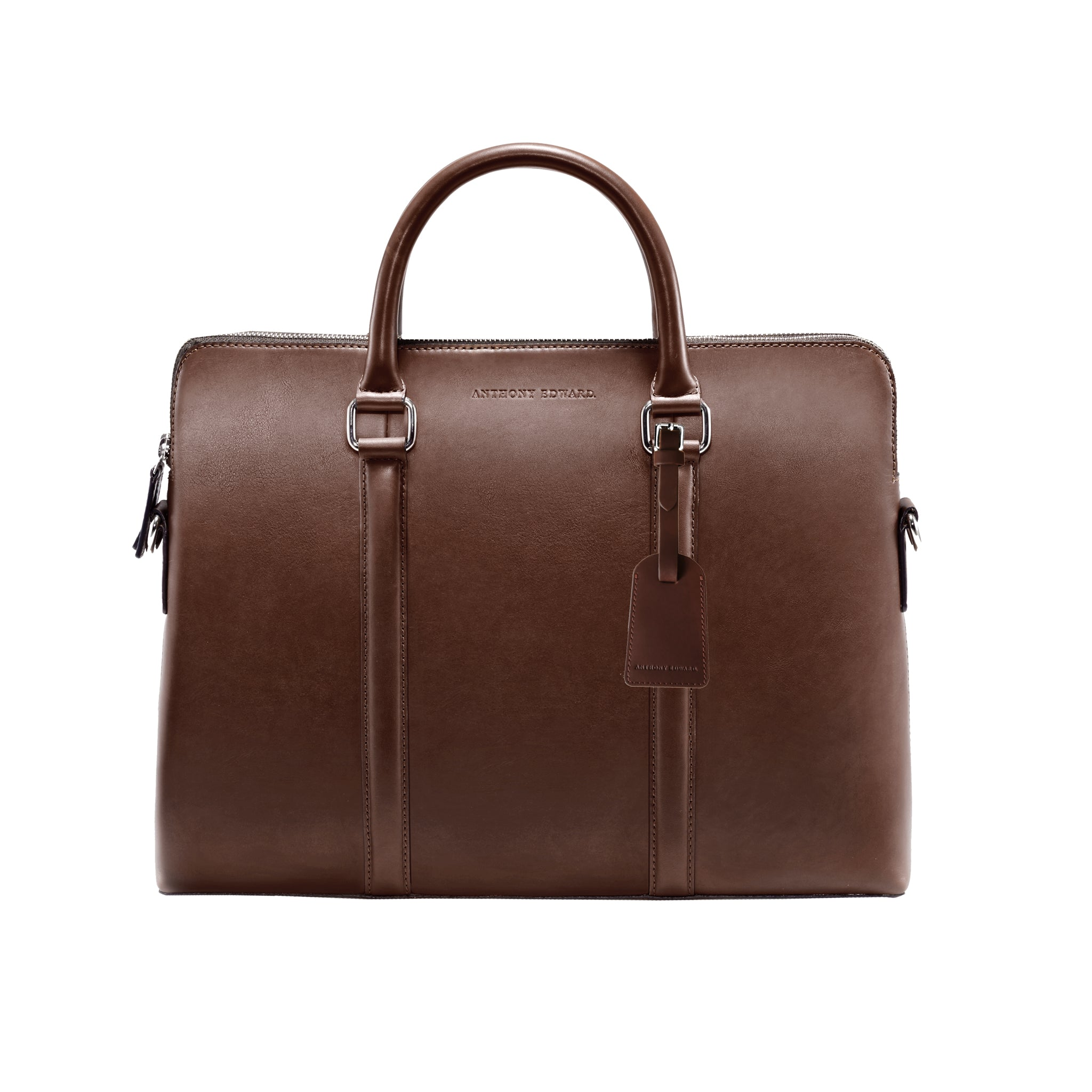 CLASSY BRIEFCASE BROWN CRYSTAL BLUE