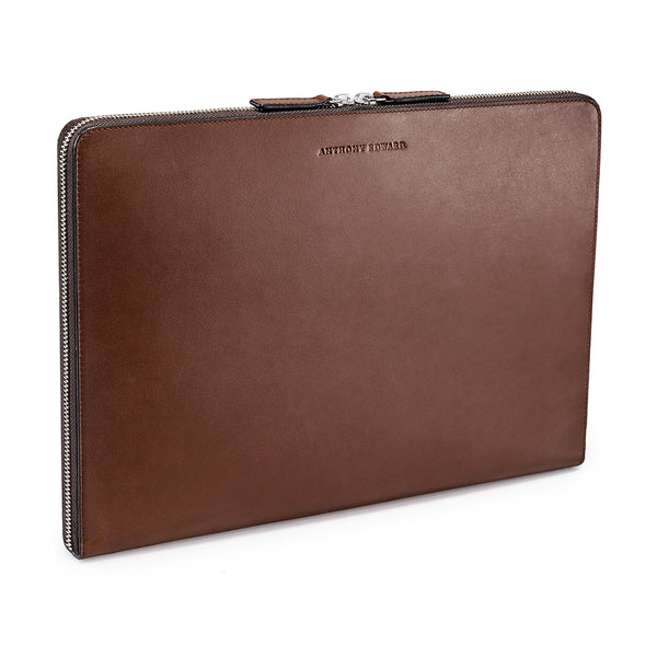 "LAPTOP PORTFOLIO 13"" BROWN CRYSTAL BLUE"