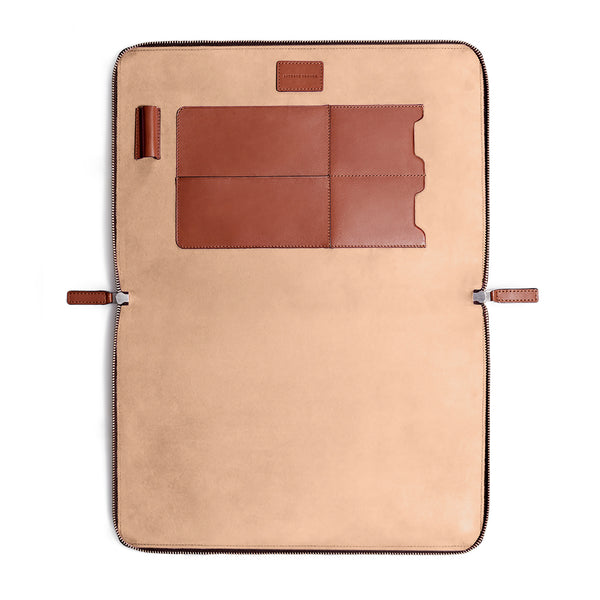 "LAPTOP PORTFOLIO 15"" COGNAC NATURAL BEIGE (1920156303409)"