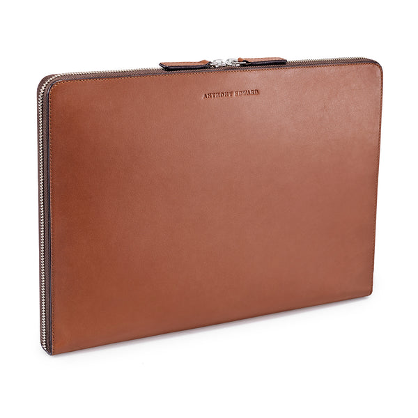 "LAPTOP PORTFOLIO 13"" COGNAC CRYSTAL BLUE"