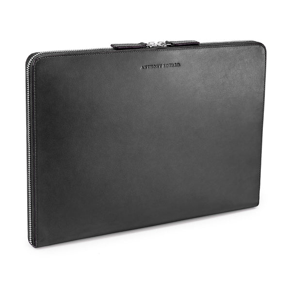 "LAPTOP PORTFOLIO 13"" BLACK NATURAL BEIGE"