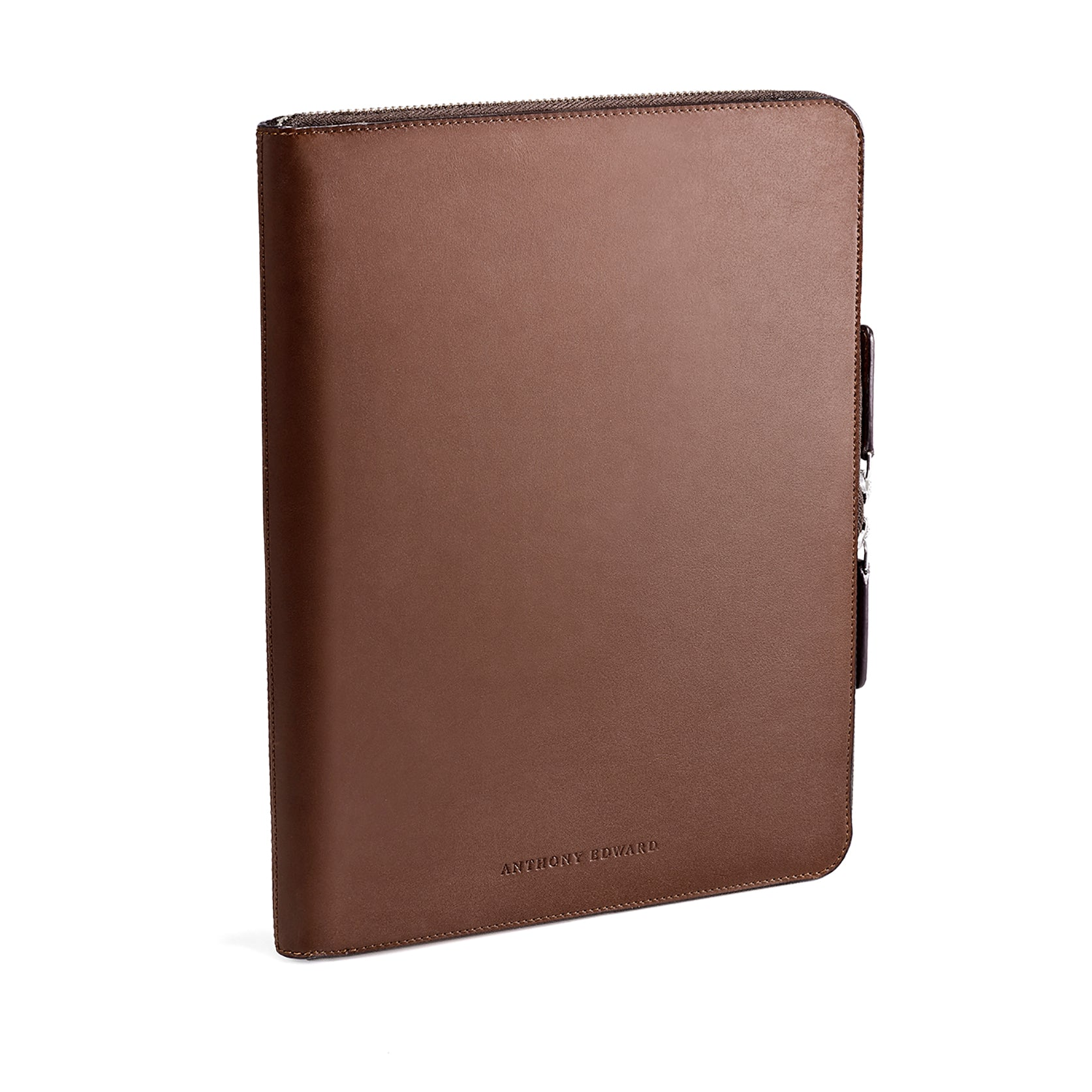 "LAPTOP PORTFOLIO 12"" BROWN NATURAL BEIGE"