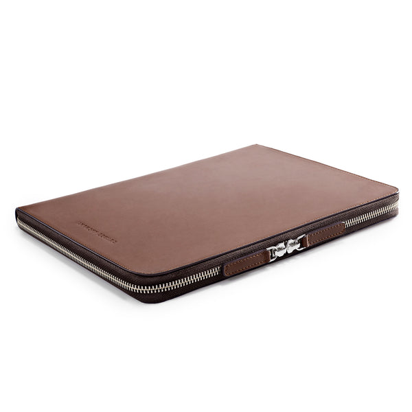 "LAPTOP PORTFOLIO 12"" BROWN CRYSTAL BLUE"