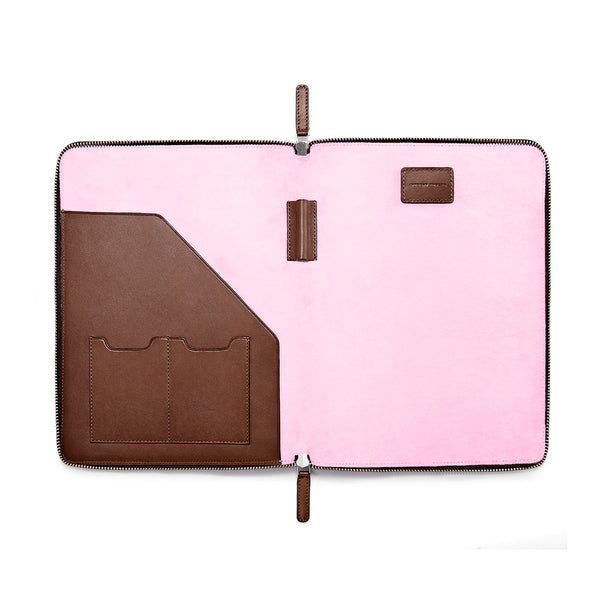 "LAPTOP PORTFOLIO 12"" BROWN CORAL PINK (1920070320177)"