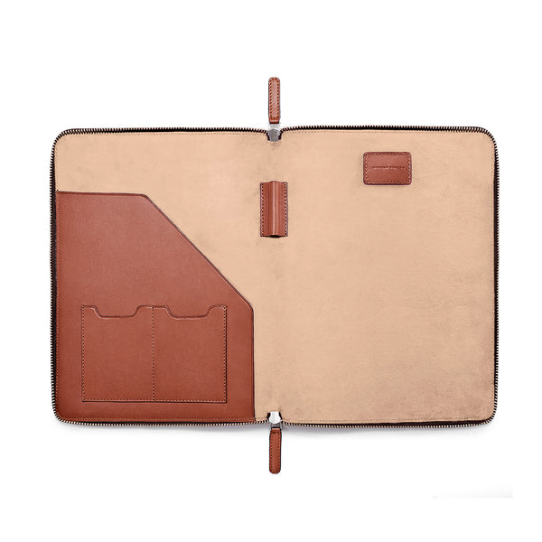 "LAPTOP PORTFOLIO 12"" COGNAC NATURAL BEIGE (1920079659057)"
