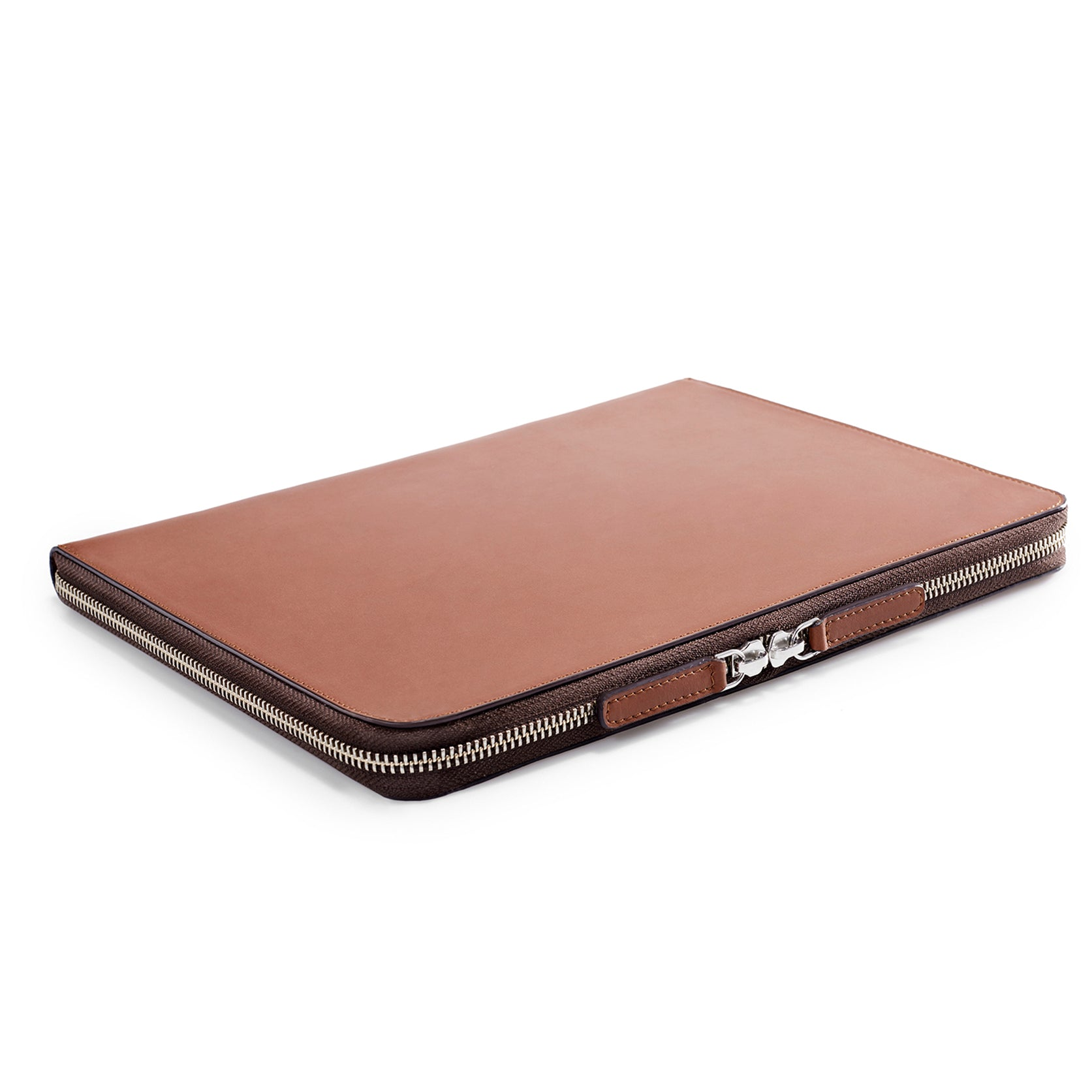"LAPTOP PORTFOLIO 12"" COGNAC NATURAL BEIGE"