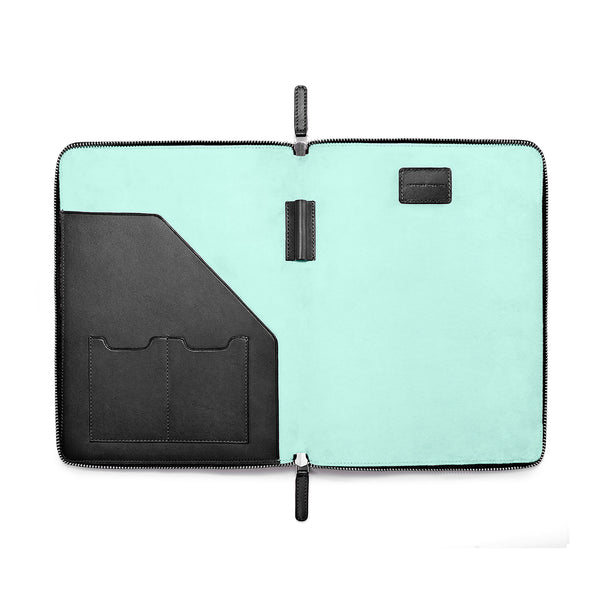 "LAPTOP PORTFOLIO 12"" BLACK CLEARLY TURQUOISE"