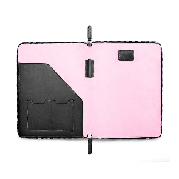 "LAPTOP PORTFOLIO 12"" BLACK CORAL PINK"