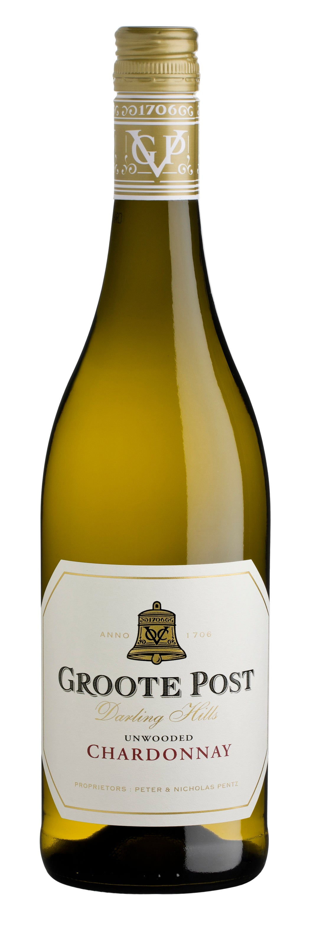 2017 Groote Post Unwooded Chardonnay