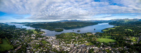 Lake Windermere and Bowness Canvas print