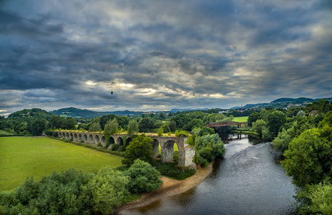 Monmouth Old railway bridge Canvas Print