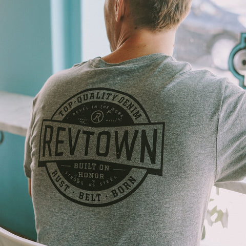 The Revtown Graphic T-Shirt White Heather