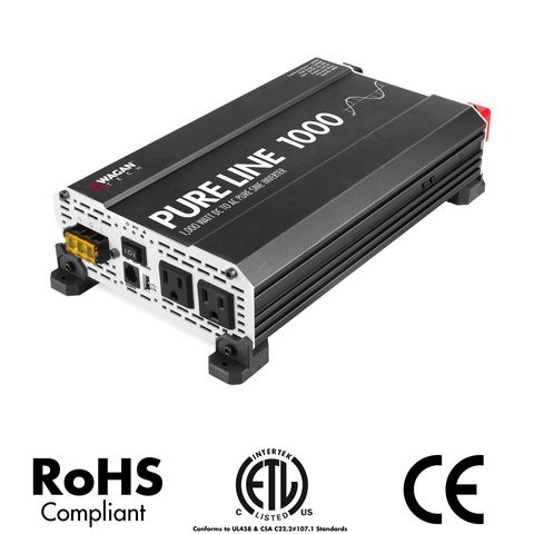 Pure Line Inverter - CE UTL CE CSA FCC approved - Wagan Tech - Power Inverters - AC to DC
