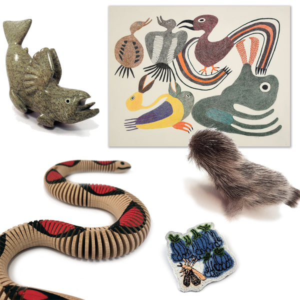 handmade artwork themed by animals