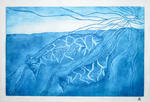 Mother with a Young Seal Dry Point Print